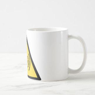 Taza De Café Peligro de radiación inionizante