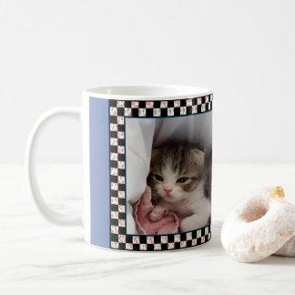 Taza De Café Pequeño gatito de la Soñoliento-Cabeza