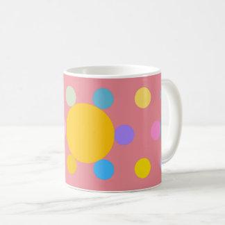 """Taza De Café Pequeño Mug modelo, rosado, """"Flor estilizada"""