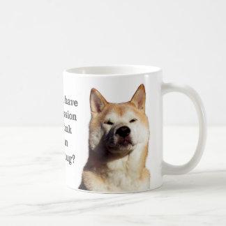 Taza De Café Permiso de Shiba
