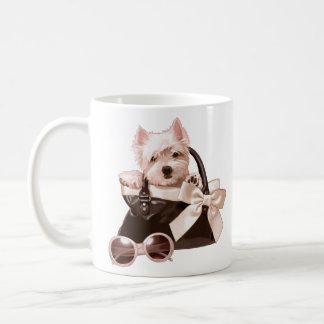 Taza De Café Perrito de Westie en bolso