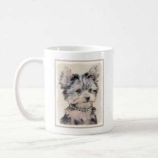 Taza De Café Perrito de Yorkshire Terrier que pinta arte