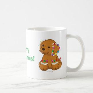 Taza De Café Perrito del pan de jengibre