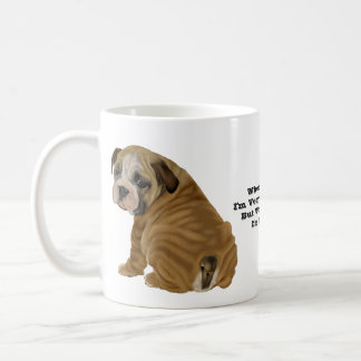 Taza De Café Perrito inglés travieso del dogo