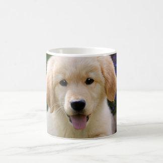 Taza De Café Perrito lindo de Goldie del perro encantador, _de
