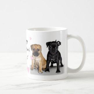 Taza De Café Perritos de Staffordshire bull terrier