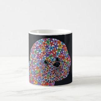Taza De Café Perro de Bichon Frise - el arte abstracto diseñó