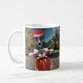 Taza De Café Perro de la vespa, enchufe Russell