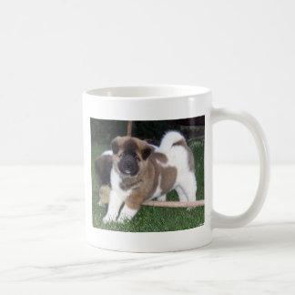 Taza De Café Perro de perrito de Akita del americano