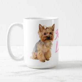 Taza De Café Perro de perrito de Yorkshire Terrier del amor -