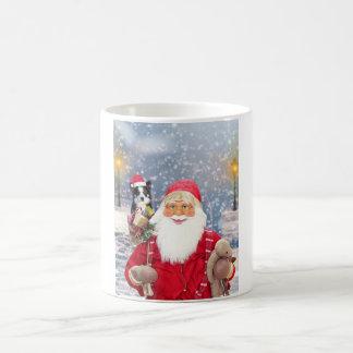 Taza De Café Perro del border collie de los regalos del navidad