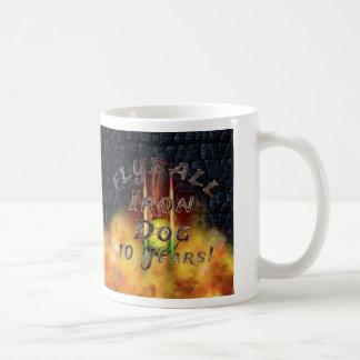 Taza De Café ¡Perro del hierro de Flamz Flyball - 10 años de