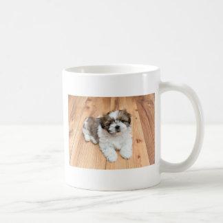 Taza De Café Perro joven de Chu de la ji que miente en piso de