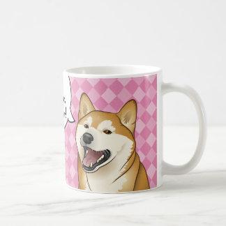"""Taza De Café Perros japoneses felices de Shiba Inu los """"son"""