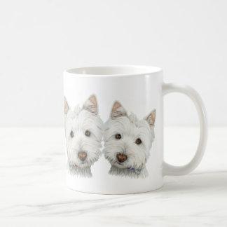 Taza De Café Perros lindos de Westie