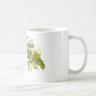 Taza de café personal de la curandería médica