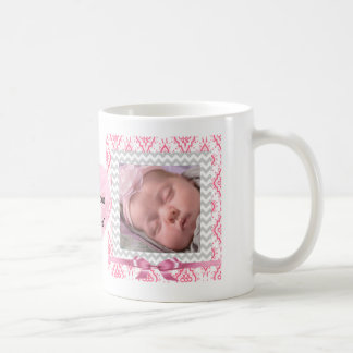 Taza De Café Personalice este corazón capítulo rosa lindo de