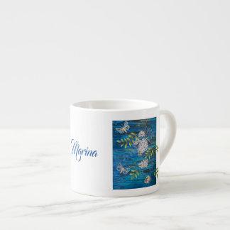Taza de café personalizada con las polillas y las