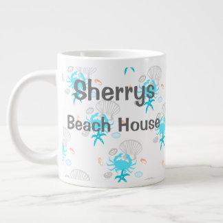 Taza de café personalizada de la casa de playa