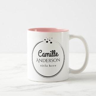 Taza de café personalizada elegante con los