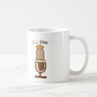Taza de café personalizada micrófono del vintage
