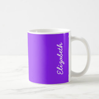 Taza De Café Personalizar púrpura de neón del color sólido él