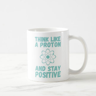 Taza De Café Piense como Proton