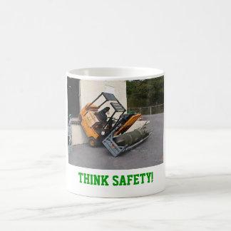 Taza De Café ¡Piense la seguridad!