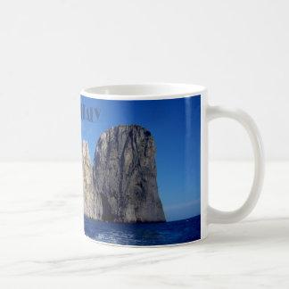 Taza De Café Pilas de Faraglioni, isla de Capri - Nápoles -