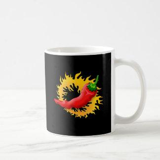 Taza De Café Pimienta con la llama