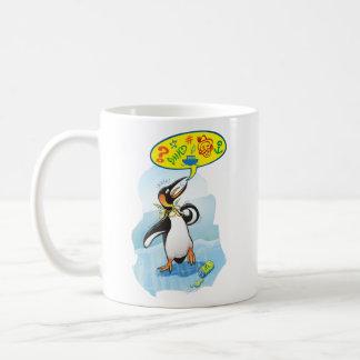 Taza De Café Pingüino de rey desesperado que dice malas