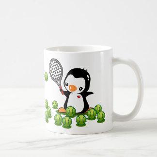 Taza De Café Pingüino del tenis