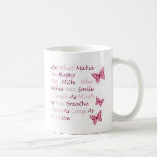 Taza De Café Pink Butterflies Mug