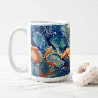 Taza De Café Pintura abstracta de acrílico del Fox del