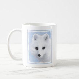 Taza De Café Pintura del Fox ártico - arte original de la fauna