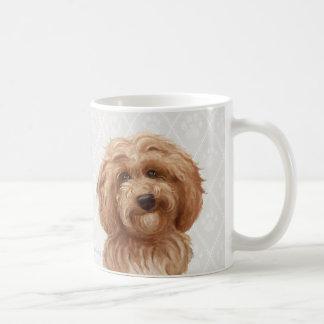 Taza De Café Pinturas del perro de Labradoodle/amor de