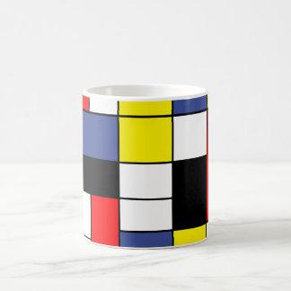 Taza De Café PixDezines Mondrian, Minimalist