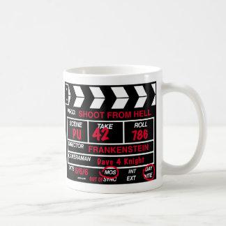 Taza De Café Pizarra de la cámara cinematográfica