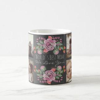 Taza De Café Pizarra y texto florales de encargo de la foto