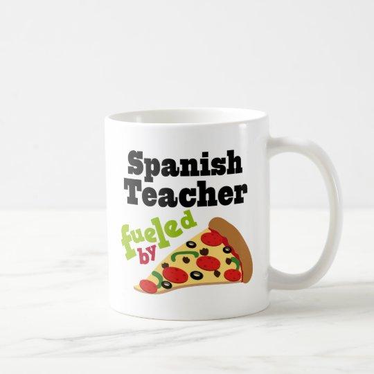 Taza De Café Pizza (divertida) española del profesor
