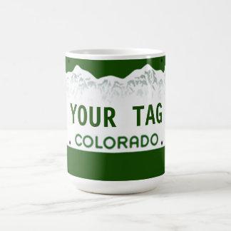 Taza De Café Placa de encargo de Colorado