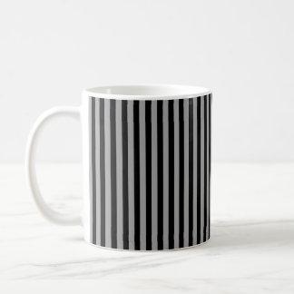 Taza De Café Plata y rayas negras verticales