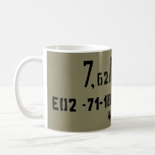 Taza De Café Poder del Spam de la munición de AK-47 7.62x39