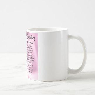 Taza De Café Poema de la hermana - 60.o cumpleaños
