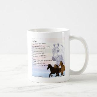 Taza De Café Poema de la sobrina - caballos