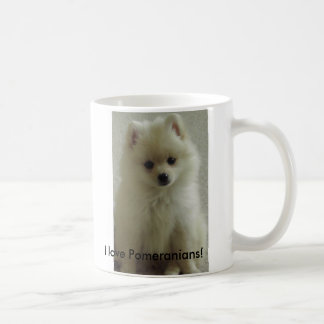 Taza De Café ¡pom, amo Pomeranians!