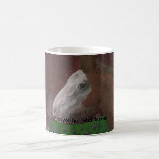 Taza De Café Potro de Clydesdale en el lado de su madre