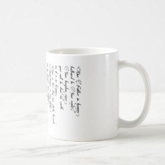 Taza De Café Prayer Cup del señor