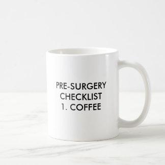 TAZA DE CAFÉ PRE-SURGERY CHECKLIST1. CAFÉ, CHE DE PRE-SURGERY…