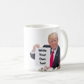 Taza De Café Presidente Donald Trump - escriba su propio texto